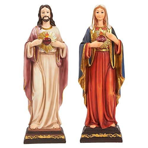Pair of Virgin Mother Mary Figur...