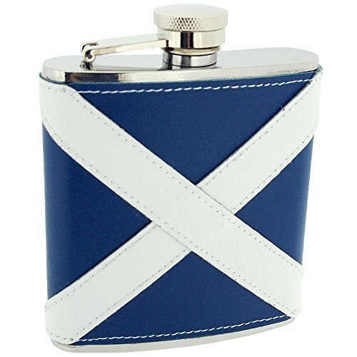 Artamis 6oz Scottish Leather Coated Hip Flask In A Gift Box by Artamis