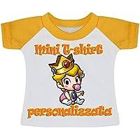 MINI T-SHIRT BIMBO A BORDO AUTO MACCHINA STAMPA PERSONALIZZATA NOME FOTO DISEGNO BIANCO (Stampa Bordo Shirt)