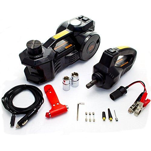 KFZ Pannen/Werkzeug Set mit elektrischem Wagenheber, Kompressor, Schlagschrauber 12V