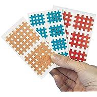 Servoprax S8 ATC3 - Vendaje cruzado para puntos de acupuntura (20 x 2 bandas, 4,5 x 4,5 cm), color carne