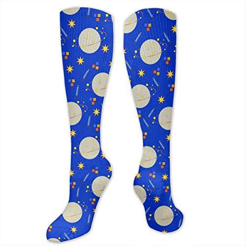 Gped Kniestrümpfe,Socken, Planets And Rocket Ships Women's Girls Knee High Socks Sports Stockings Football Long - Rocket Girl Kostüm