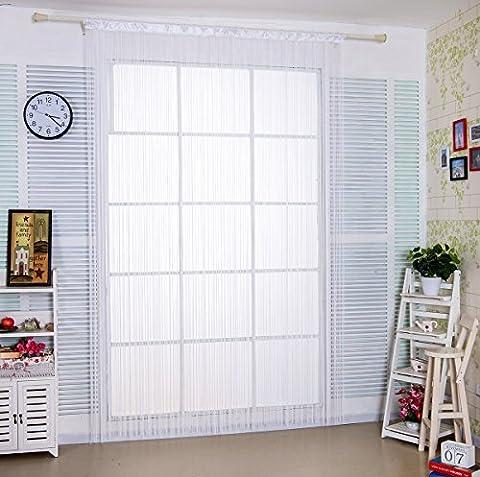 90x 245cm weiß Spaghetti String Vorhang für Home Decor und Trennwand mit Creative Streifen Quaste Design