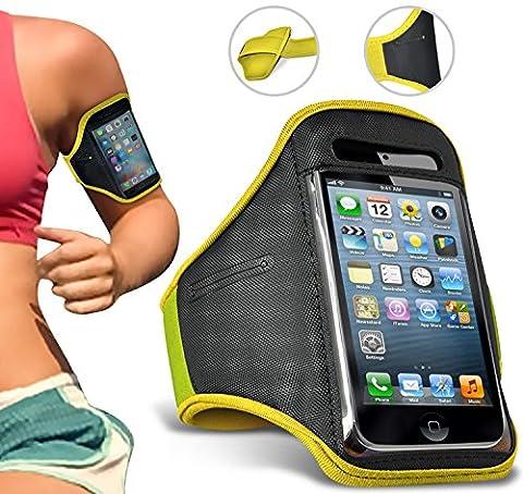 Samsung Galaxy J7 (2017) Armband Sport Running Jogging Reiten Gym Arm Band Radfahren Halter Fall (Mini Wrap Around Wrap)