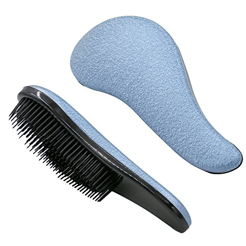Haar-produkte Frizz (Entwirrbürste, Rusee Professionelle Entwirrungsbürste Haarbürste Entwirrresistenz, kein Frizz, Kopfmassage, Styling für nasses und trockenes Haar (Blau))