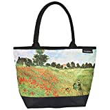 VON LILIENFELD Tasche Damen Handtasche Shopper Henkeltasche bedruckt mit Motiv Kunst Design Blumen Claude Monet: Mohnblumenfeld