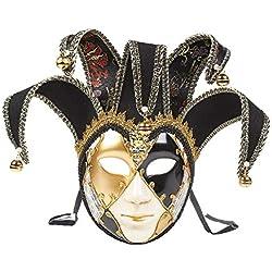 URSING Visage Complet vénitien Masque de théâtre de Mascarade Masque de Balle de fête de Mardi Gras