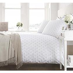 La empresa de Fine algodón Diseño de lunares funda de almohada estándar, Natural