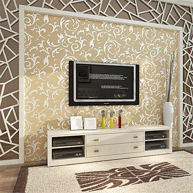 Moderne Dekoschale Arts 3D Tapete Wandverkleidung, Vlies Papier Wall Art, Gelb