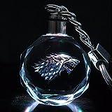 Schlüsselanhänger Schattenwolf (Haus Stark) Game of Thrones LED Kristall