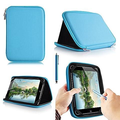 casezilla A2017,8cm Mid Apad ePad Netbook Tablet Universal EVA Hartschale Folio Tablet Fall blau YARVIK TAB275EUK Tablet