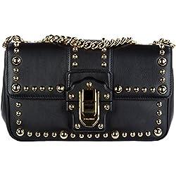 Dolce&Gabbana bolsos con asas largas para compras mujer en piel nuevo lucia negr