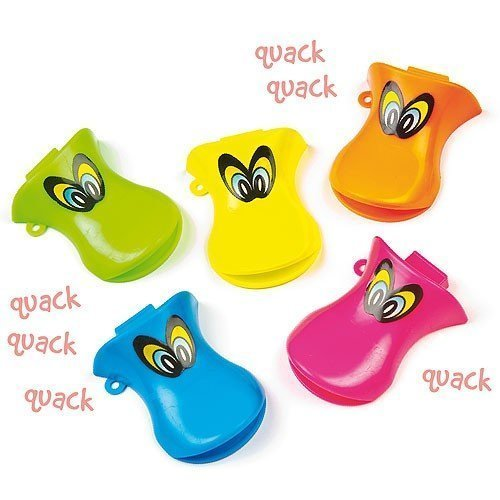 Munchiemooskids Pack Of 12 Duck Quacker Whistles - Great Party Loot Bag Fillers Mixed Colours