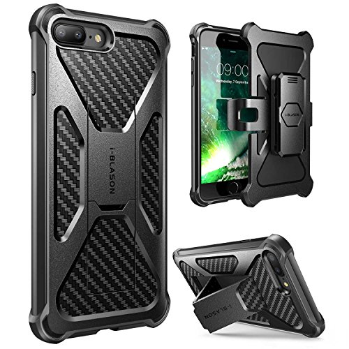 i-Blason Transformer 5.5' Funda Negro - Fundas para teléfonos móviles (Funda, Apple, iPhone 7 Plus, 14 cm (5.5'), Negro)