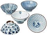 Saikai Ceramica Traiditional Giapponese Ciotole di Riso (5 ciotole) 31623 dal Giappone da Saikai Touki