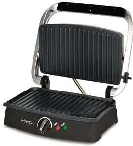 Howell HO.HPM200 1600W Black sandwich maker - Sandwich Makers (1600 W, Black, Stainless steel)