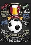 Sports Bar: Fußball, Football pub sign, kneipe schild, barschild, schwarz schild aus blech, metal signs, tin
