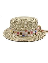 81b8188cb088b Gorras Sombreros Boater Plana Sombrero de Copa para Mujeres de ala Ancha  Fedora Sombreros Laday Prok