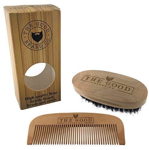 Kit Brosse et Peigne à Barbe The Good Beard Co. – Fabriqués avec du bois de qualité et des poils 100% sanglier