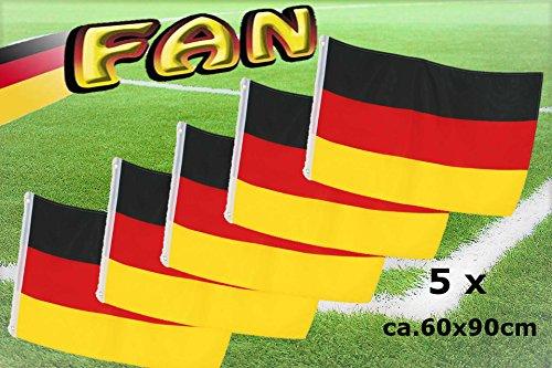 Flagge Deutschland Fahne, mit Metallösen, ca. 60 x 90 cm, versch. Ausführungen, Fanartikel (5) Viewing Station