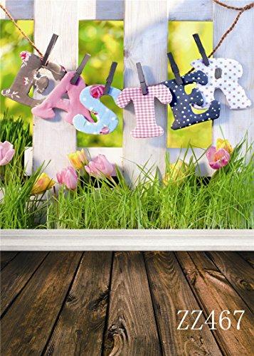LOVE-BABY Studio Fotografie Hintergrund Prop Ostern Tag Foto Hintergrund mit Boden (Ostern Foto Prop)