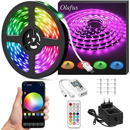 Olafus 10M Ruban LED Intelligent Alexa Connecté WiFi, 300 LED 5050, Bande Lumineuse Couleur RGB...