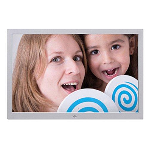 JIAO DE Digital Photo Frame Video Werbung Maschine Fünf Metall Elektronisches Fotoalbum HDMI HD Access 10 Zoll (Farbe : Silber)