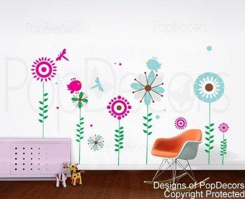 Preisvergleich Produktbild PopDecors-Baum-Design (65inch H), Motiv Beautiful Tree Wandsticker für Mädchen Kinder Zimmer Jungen Teenager Tapete, Wandmalerei Sticker Wandsticker Kinderzimmer, Nursery Decals