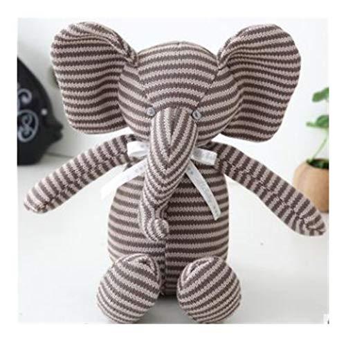 Yuhualiyi123 Nordic Ins Stil Hase Elefant Kissen Plüsch Stofftier Hase Spielzeug Puppe Baby Schlafzimmer Dekoration Kinder Geschenk Neue Elefant Spielzeug (Color : Gray)