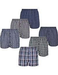 e48048a01e Mctam Herren Boxershorts Men 6er Pack Unterwäsche Unterhosen Männer  American Klassisch Kariert 100% Baumwolle