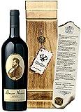 DAS Weingeschenk für den Vater & Lebemann Rotschild 'Baron Henri' Vintage Bordeaux Holzkiste mit Siegel inkl. Zertifikat Männergeschenk