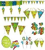 Unbekannt  Alles Gute zum Schulanfang  - XXL Deko Set - Wimpelkette + Kerzen + Girlande + Streumotive + Luftballon - Party - Schuleinführung Schule Schulbeginn Fest S..