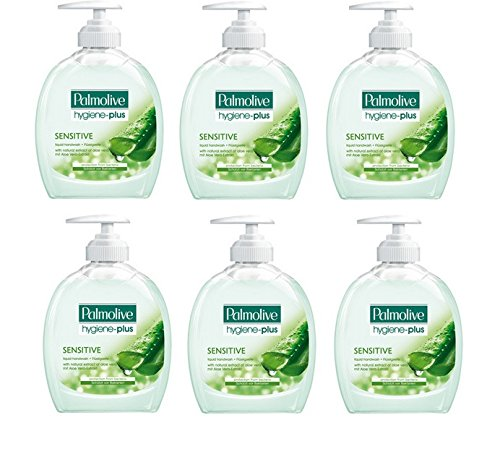 Palmolive Flüssigseife Hygiene-Plus Sensitive , 6er Pack (6 x 300 ml)