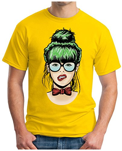 OM3 - DIVA-CHICK - T-Shirt GEEK, S - 5XL Gelb