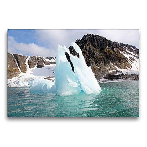 Calvendo Premium Textil-Leinwand 75 cm x 50 cm quer, EIN Motiv aus dem Kalender Schönes Svalbard | Wandbild, Bild auf Keilrahmen, Fertigbild auf echter Leinwand, Leinwanddruck Natur Natur