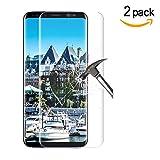 Samsung Galaxy S8 Plus Panzerglas Duott Anti-Luftblase HD-Qualität Displayschutzfolie 9H Panzerglas 0,22mm Panzerglasfolie Für Galaxy S8 Plus Schutzfolie [Vollständige Abdeckung][2 stück]