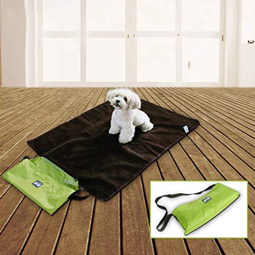 Yazidan Haustier-Hundebett im Freien Wasserdichte Reise-Decke für Haustier,Wasserdichte und Plüsch Hundedecke Matte mit Tragbar Tragetasche für Hund Welpen Katze Innen Draussen Anwendungen