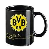 Borussia Dortmund BVB Zaubertasse Skyline, Keramik, Schwarz/Gelb, 10 x 10 x 15 cm