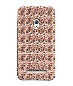 PrintVisa Designer Back Case Cover for Asus Zenfone 5 A501CG (Matty Box Round Design Texture Matefinish Red)