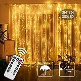 Luci per tende per tende, luci per finestre plug-in USB SPECOOL 3m x 3m 300LED luci decorative bianche calde con 8 modalità per decorazioni per la camera da letto del giardino di Natale per matrimoni