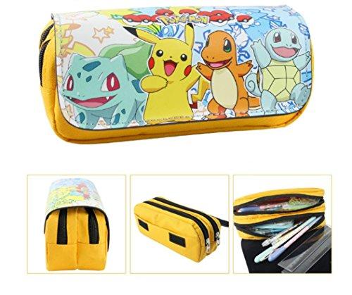 Estuche-Escolar-dos-compartimentos-amarillo-Pikachu-Pokemon-Go