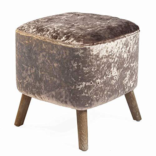 Stylish Cover Sitzhocker Chene, L38 – L38 – H40, Bezug aus Seidenvelours, Kupfer