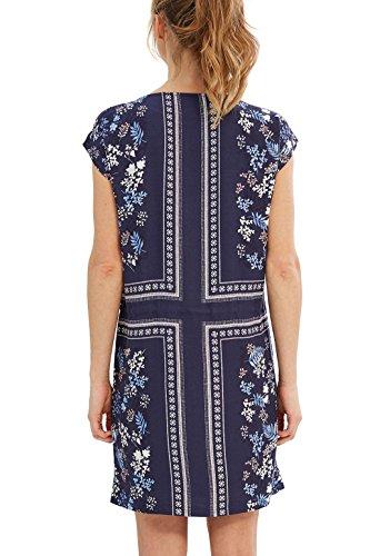 Esprit 037eo1e010, Robe Femme Bleu (Navy)