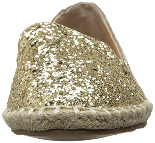 Steve Madden Rubby Femmes Synthétique Chaussure Plate Gold Glitter