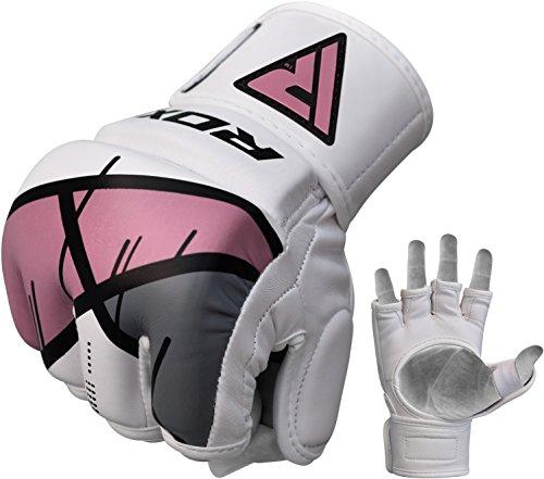 RDX MMA Kunstleder Handschuhe UFC Kamfsport sandsackhandschuhe Sparring Grappling Trainingshandschuhe Rosa, Gr. M