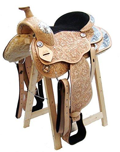 Western Sillín Texas de piel de búfalo de alta calidad Full Quarter
