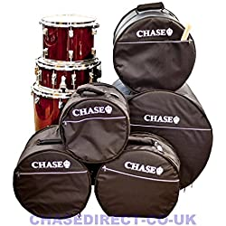 Chase Padded Drum Bag 5 Piece Set 5mm Padding Rock Size