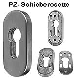 Edelstahl SCHIEBE- Schutzrosette für Profilzylinder Art.:011
