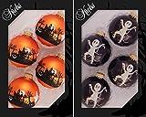 Original Lauschaer Árbol joyas–Juego de 4bolas de Halloween
