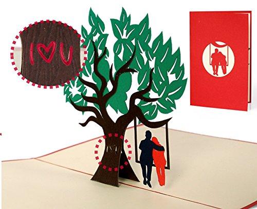 """Geburtstagskarte Liebe""""I like you"""", für Mann, für Frau, Valentinstag, handgemacht, hochwertig, schön, Karte für Verliebte, Hochzeitskarten, edel, elegant, hochwertig, L16"""